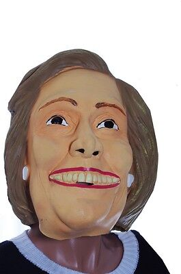 Adult Hilary Clinton Democrat Halloween Costume Full Mask Wig Bill s Wife NEW](Bill Clinton Halloween Costume)