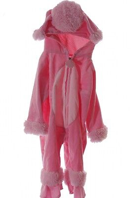 Baby Infant Toddler Cute Poodle Dog Pink Girls Doggy Warm Costume Small Pup NEW - Baby Poodle Costume