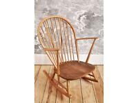 Vintage Retro Ercol ercol Grandfather Rocking Chair / Rocker in Blonde mdl 315