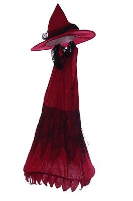 Girls Burgundy Red Pretty Good Witch Costume Hoop Dress Halloween Costume  8 - Good Halloween Costume For Girls