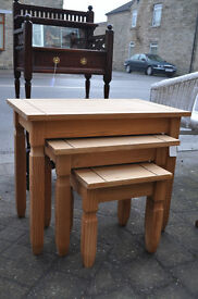 mexican pine nest of tables