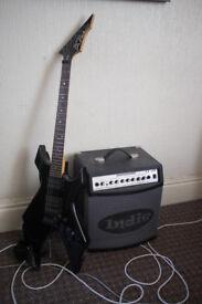 B.C. Rich Guitar + amp