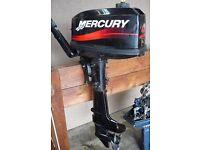 MERCURY 4hp OUTBOARD ENGINE SHORT SHAFT F/N/R GEARS 2001