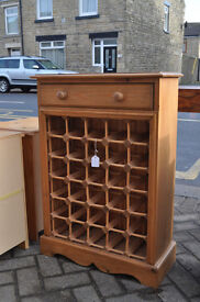 solid pine wine cabinet