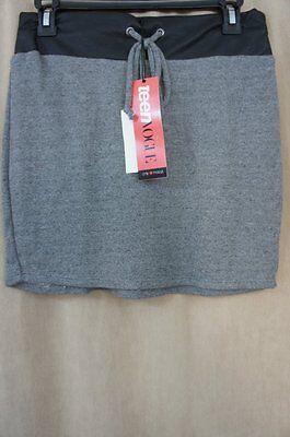 Teen Vogue for MstyleLab Juniors Skirt Sz M Black Grey Lightweight Jersey Knit  ()