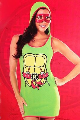Womens Teenage Mutant Ninja Turtles Sexy Halloween Costume Raphael 6 10 14 M NEW