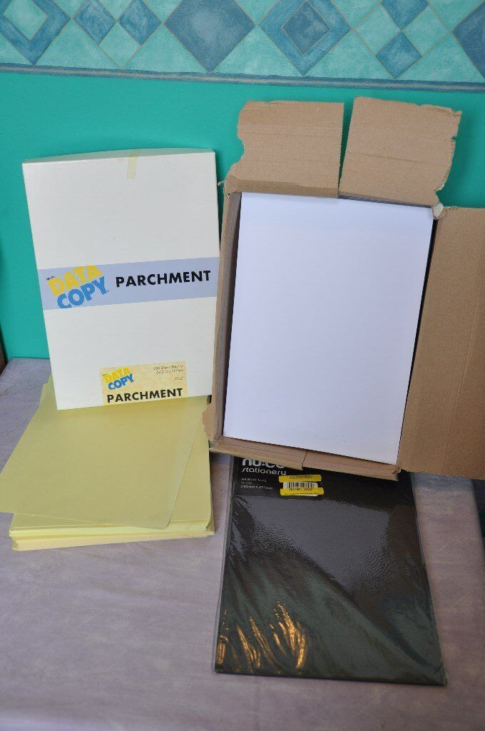 2x Boxes of Stationary A3/A4 paper, card, envelopes, CD labels,.. (worth £70+, asking £15)