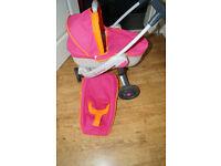 Quinny 3 Wheel Doll's Pushchair and Pram