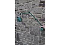 vintage retro green enamel anglepoise lamp machinists lamp