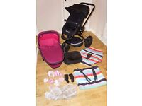 Quinny Buzz 3 pushchair/pram, 3 in 1 and accessories