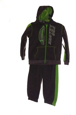 Baby Boys Football Sweatsuit Sweatshirt Sweat Pants Hoodie Gray Green 2T NEW NWT