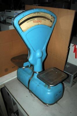 Vintage Antique Toledo 4031-BA Double Platform Mercantile Factory Scale 30 lb