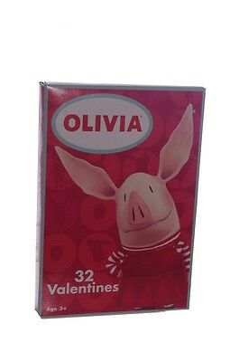 Olivia The Pig 32 Count Box Valentine Cards Valentines Day Card NEW Hard To Find