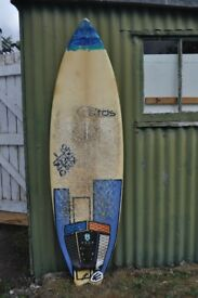 5'11 Surfboard (Performance Fish) Teardrop Surf