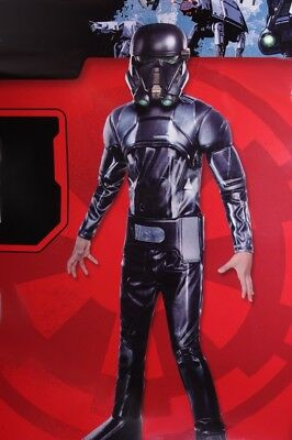 Boys STAR WARS Rogue One DEATH TROOPER Halloween Purim Muscle Costume M L NEW