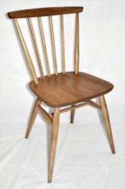 Vintage Retro 60's Ercol Windsor Swept Back Chair (model 737) - As New - Fully Refurbished