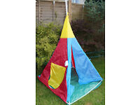 Childrens Kids Wigwam Teepee Indian Outdoor Play Wendy House Tent Den Toy