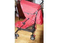 Mothercare Nanu LX Stroller Red with Raincover Great Condition