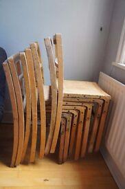 7 Vintage Wooden School Chairs