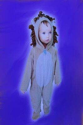 Baby Infant Toddler Cowardly Lion  Warm Halloween Costume Medium Jumpsuit NEW (Warm Toddler Costumes)
