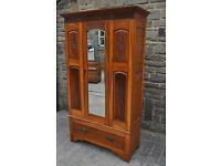 edwardian satinwood wardrobe shabby chic