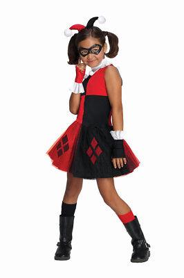 Mädchen Kind Harley Quinn Dc Super Villain Sammlung Kostüm mit Tutu - Mädchen Harley Quinn Tutu Kostüm
