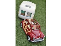 Sylvanian Brown Labrador Family Only (Car and caravan NOT included see separate listing)
