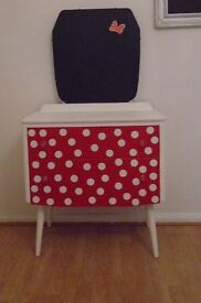 shabby Chic Red And White Polka Dot Dressing Table £95 OR NEAREST OFFER