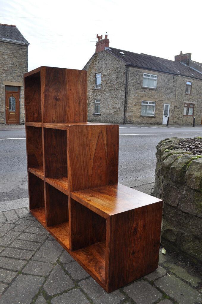 jali sheesham cube shelving unit bookcase display unit