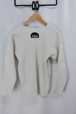 HOMME PLISSE ISSEY MIYAKE Ivory Limited Edition Long Sleeve Top size2 234 3261