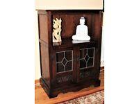 Wood Bros Old Charm 2334 B Oak Storage Media Hi Fi Cabinet Cupboard