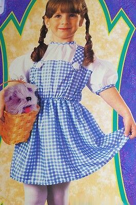 Baby Girls Infant Dorothy The Wizard of Oz Halloween Purim Costume Size 1 2 NEW