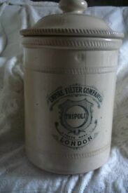 Large vintage stone wesr water filter container . Great for display