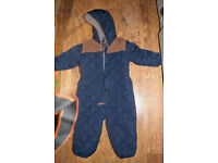 Next Quilted Baby Boy Winter Suit size 18-24 months