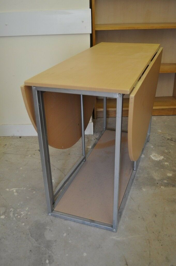 Small Drop Leaf Kitchen Living Room Table Or Computer Work Surface