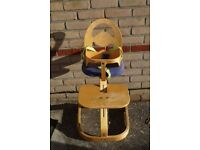 Mothercare wooden high chair.