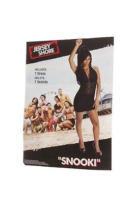 Snooki Halloween Costume (Womens The Jersey Shore Snooki Halloween Costume Dress Black Sexy Small 4 6)