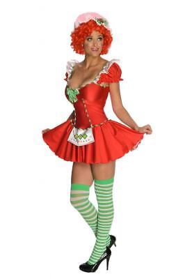 Damen Erwachsener Reiz Deluxe Strawberry Shortcake Kostüm Kleid - Strawberry Shortcake Kostüme Erwachsene