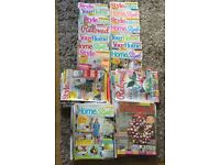 Home style and craft magazines - bundle of 67
