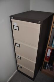 4 Drawer Filing Cabinet incl 75+ Suspension Files