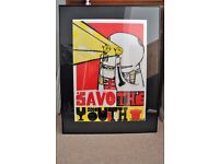 Sickboy Save The Youth Edition Of 100 On Thick Vinyl Bristol graffiti not Banksy OFFERS INVITED