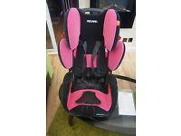 Pink Sport RECARO baby seat for sale