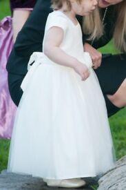 Frazer & James' full length pale cream flower girl's dress size 18-24 months