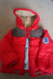 Ted Baker Boys Winter Jacket Red size 18-24 months