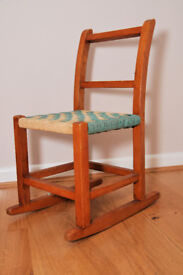 Chair for child, rocking, vintage 1950s or 1960s