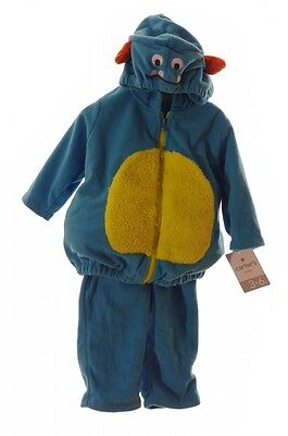 Carters Baby Boys Blue Monster Warm Purim Halloween Costume 3 6 9 18 Months NEW - Boys Monster Costumes