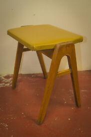 vintage retro mid century modern robin foot stool