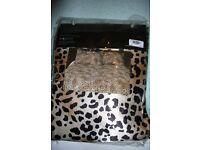 brand New Linea Leoprad Print Double Duvet with pillowcases