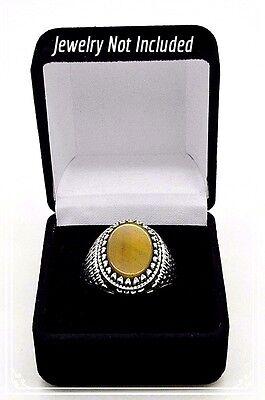 Set Of Five Ring Gift Boxes Black Velvet White Inside 2 18 X 1 78 X 1 34h