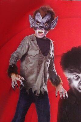 Boys Kids The Wolf Man Werewolf Monsterville Halloween Costume Purim S M L NEW